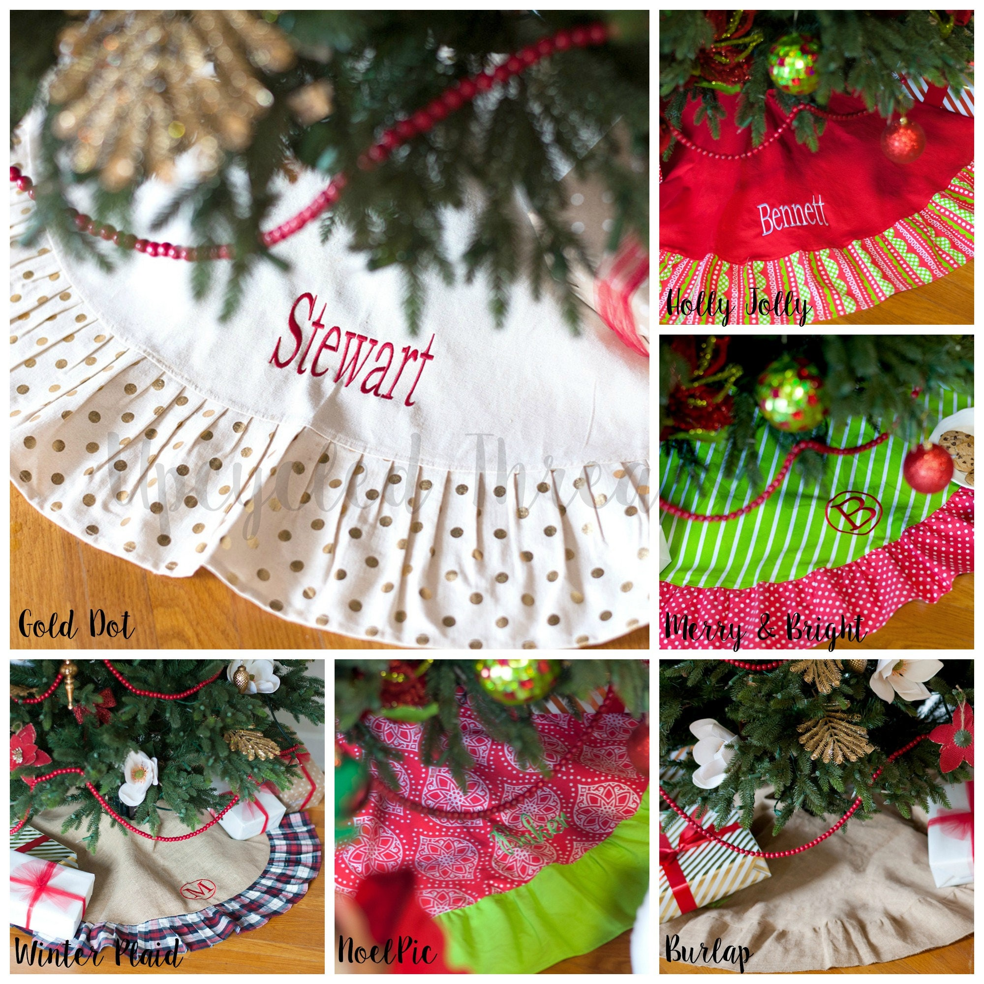 personalized christmas tree skirt monogrammed christmas tree skirt tree skirt personalized embroidered tree skirt ruffled tree skirt