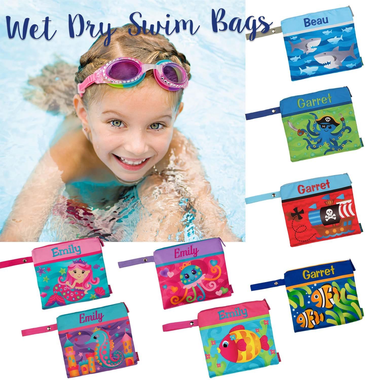 Personalized Stephen Joseph Wet//Dry Swim Bag Octopus