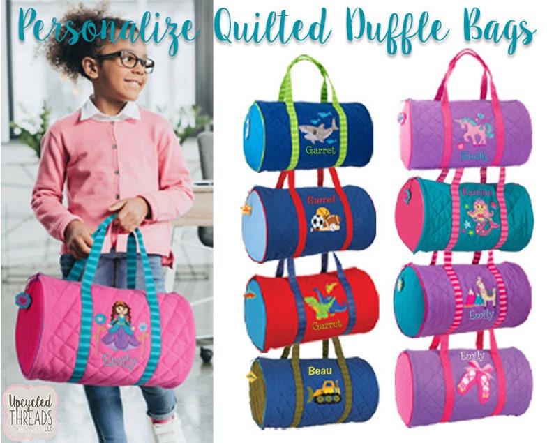 99d15babc Girls Personalized Duffel Bag Stephen Joseph Duffel Bag | Etsy
