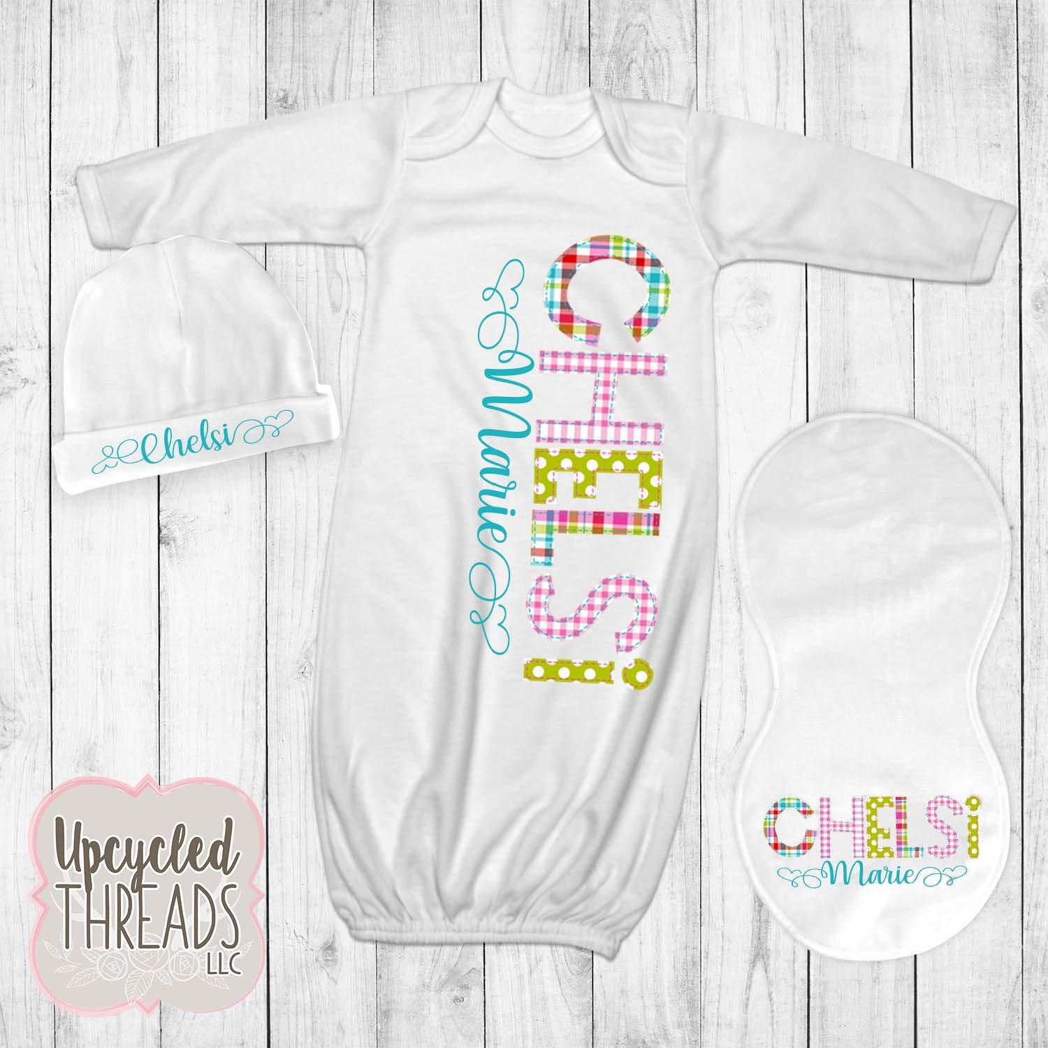 372c40faa Baby Girl Personalized Coming Home Outfit, Baby Shower Gift ...
