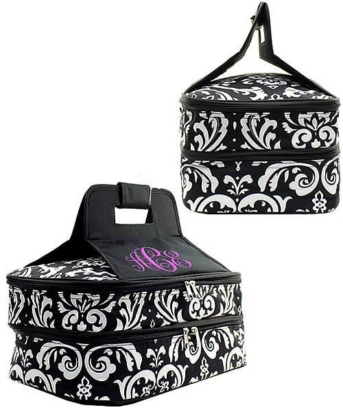 Monogrammed Casserole Carrier, Host Gift Personalized