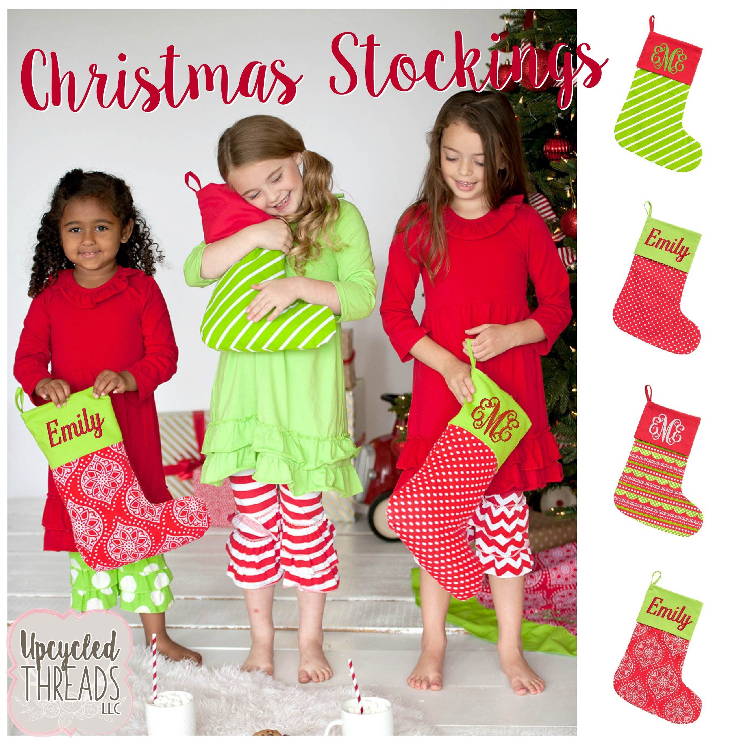 Personalized Christmas Stockings Family Stockings Monogrammed