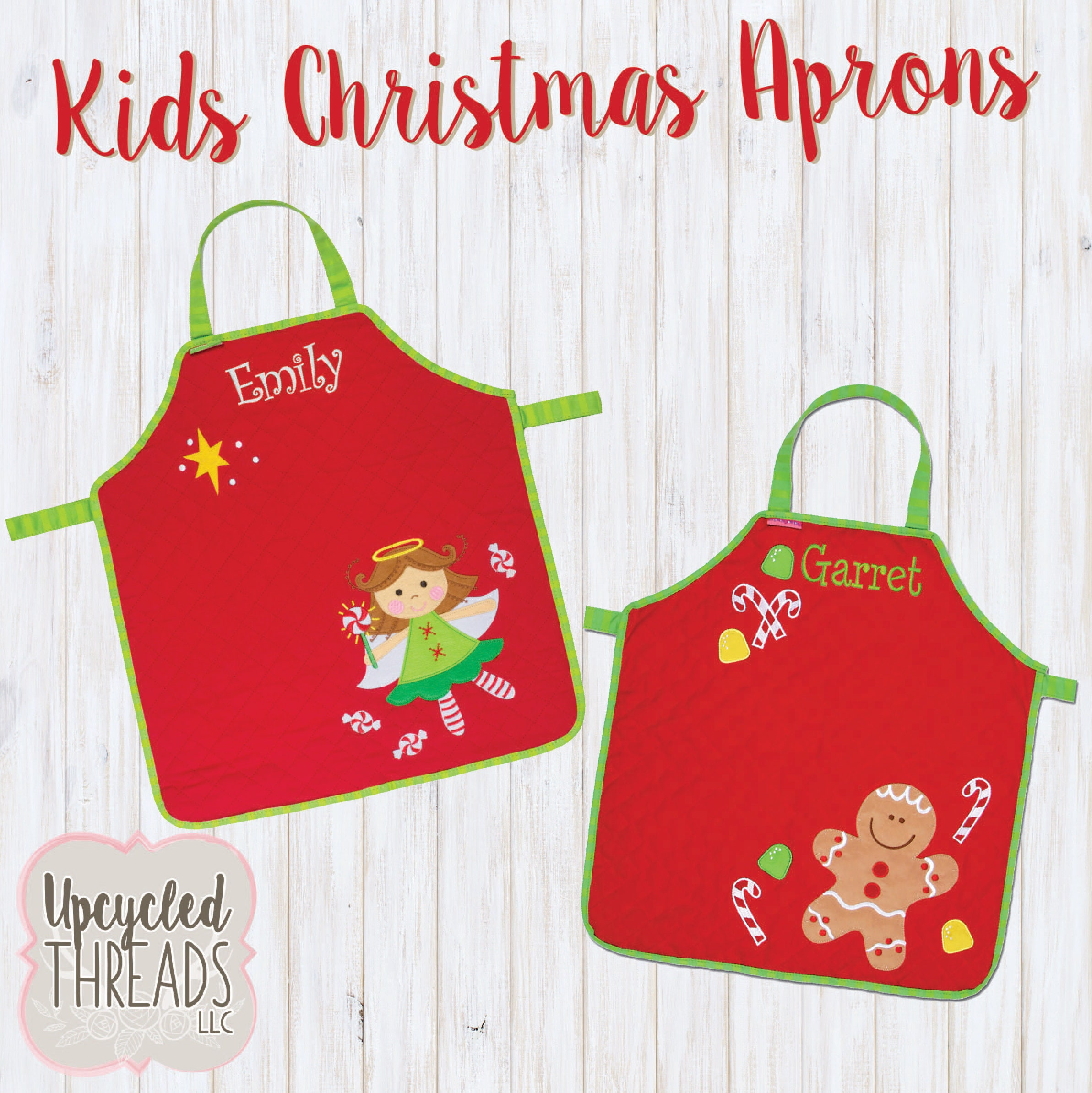 Kids Christmas Aprons Kids Baking Aprons Personalized Stephen Joseph Holiday Cooking Aprons Christmas Gift For Kids Girl Boy Apron