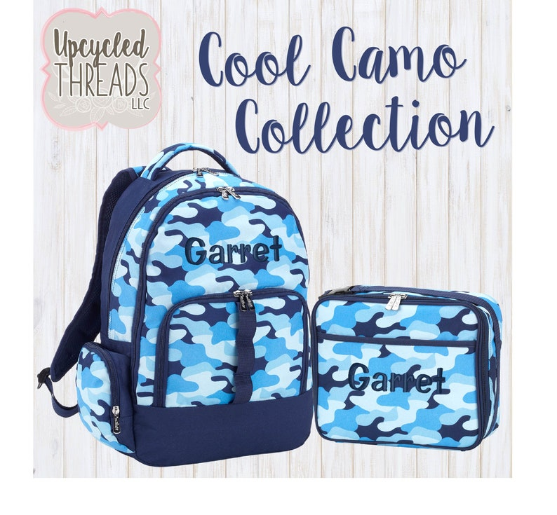 Personalized Camo Boys Backpack, Monogrammed Toddler backpack, Gift For  Boy, Custom Backpack, Backpack Set, Boys Backpack