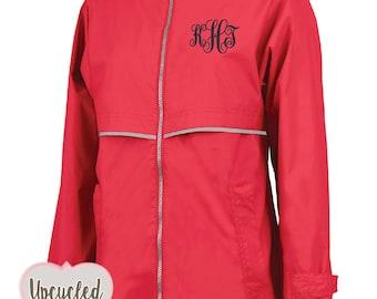 Rain Jacket, Monogram Rain Jacket, Monogrammed Rain Jacket, Monogram Rain Coat, Charles River, Gift Under 50, Gift For Her, Rain Coat,