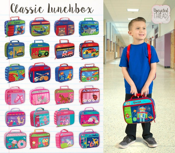 Lunchbox, Kids Lunchbox, Preschool Lunchbox, Toddler Lunchbox, Monogram lunchbox, STEPHEN JOSEPH, Boys Lunchbox, Girls Lunchbox, Lunch Box