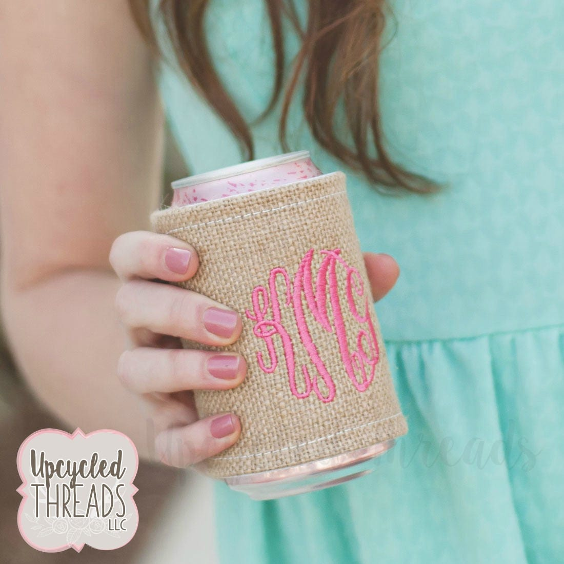 Personalized Drink Wrap, Monogrammed Drink Wrap, Bridesmaids Gifts ...
