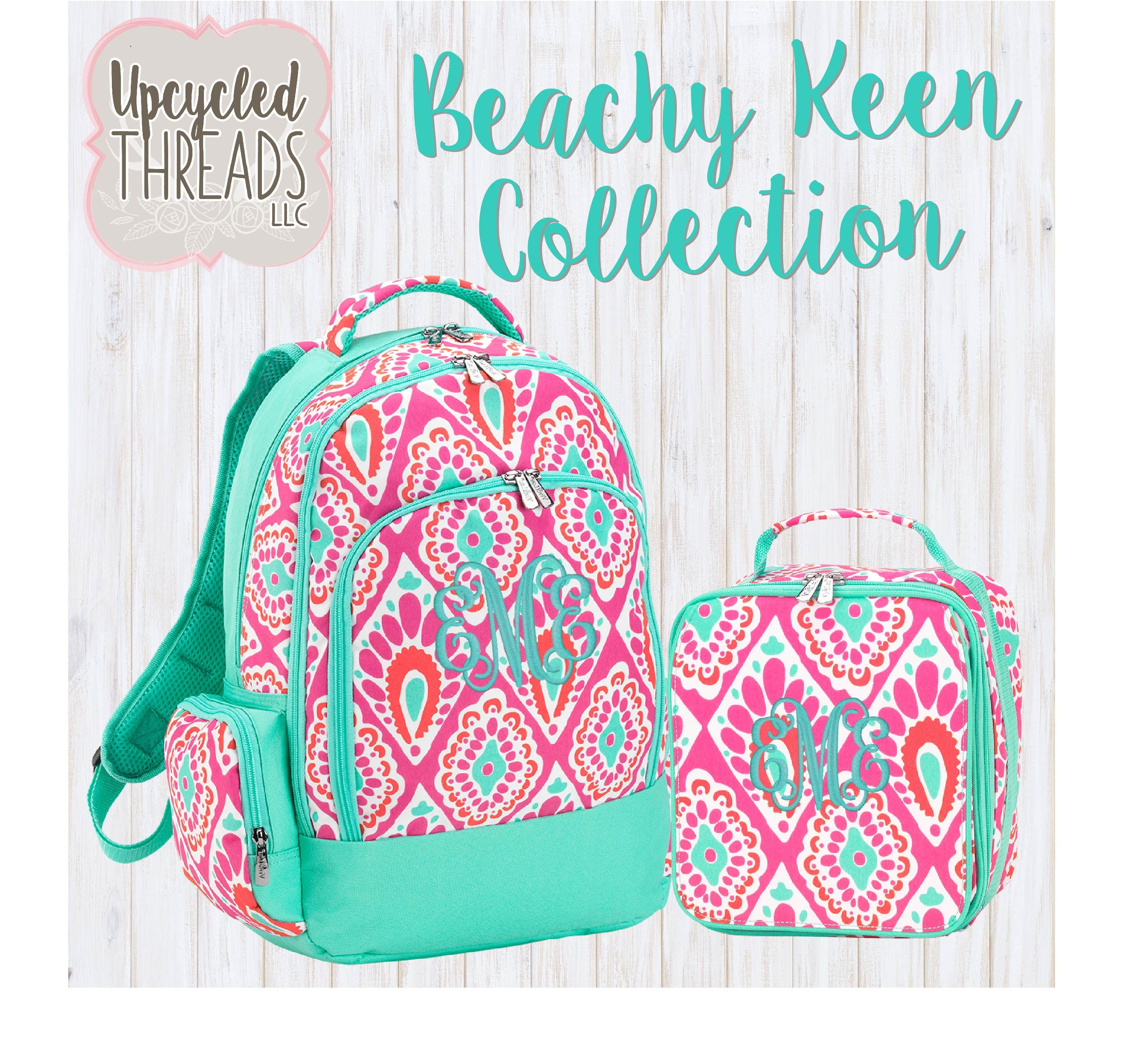 3a29736a3f4 Girls Personalized Backpack, Backpack and Lunchbox Set, Backpack ...