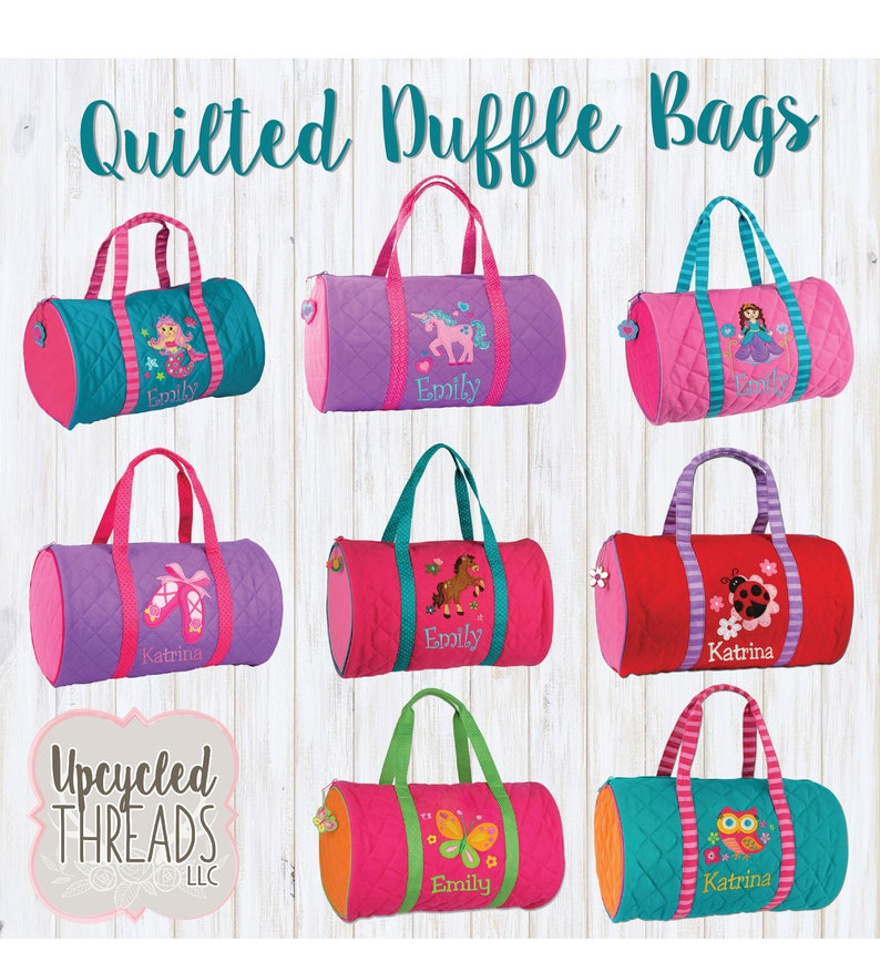 7d4870f99080 Girls Personalized Duffel Bag Stephen Joseph Duffel Bag