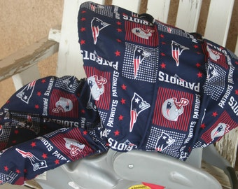New England Patriots Infant Car Seat Cover And Hood Canopy