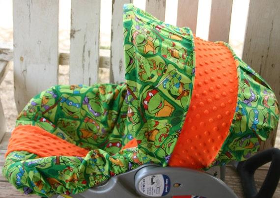 Teenage Mutant Ninja Turtles And Orange Minky Car Seat Cover