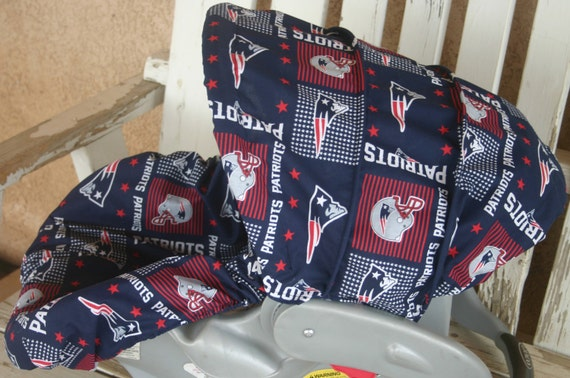 Astonishing New England Patriots Infant Car Seat Cover And Hood Canopy Cover Frankydiablos Diy Chair Ideas Frankydiabloscom