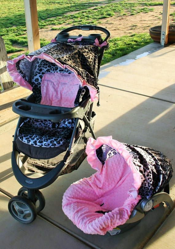 Awe Inspiring Car Seat And Stroller Not Incuded Snow Leopard W Baby Pink Minky Car Seat Cover And Hood Cover W Matching Stroller Hood And Seat Cushion Inzonedesignstudio Interior Chair Design Inzonedesignstudiocom