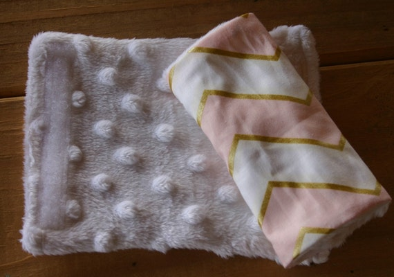 infant or toddler strap covers white minky all