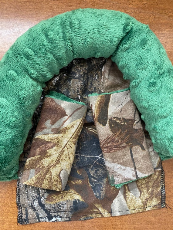 READY TO SHIP realtree with grass green minky infant head support and strap covers