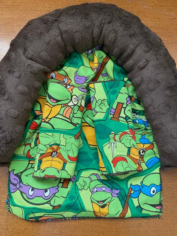 READY TO SHIP teenage mutant ninja turtles and grass green minky infant head support and strap covers