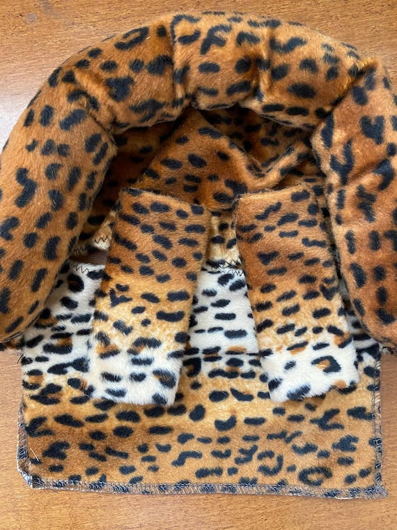 READY TO SHIP all leopard/cheetah minky infant head support and strap covers
