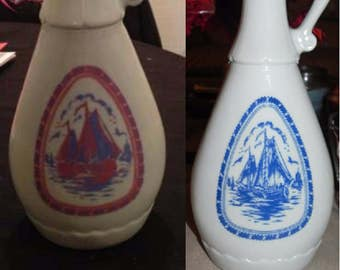 Jim Beam 1963 Sailing Boat/Windmill Decanters
