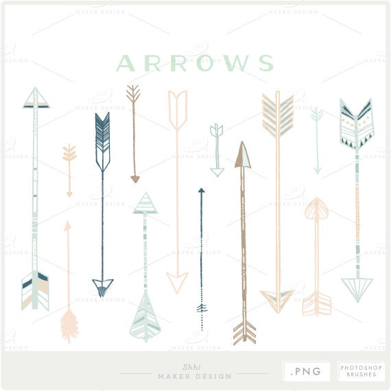 Arrow clip art png files photoshop brushes digital etsy image 0 ccuart Image collections