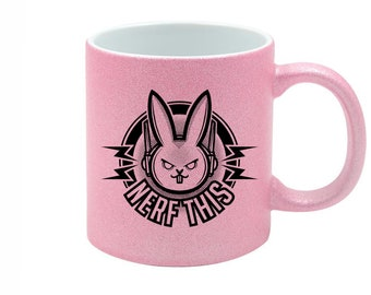Overwatch, Nerf This, Neon Mug, Computer Game, Cup, Geek Present   Playstation Game, Nintendo, Arcade Gifts For Him, Gamer