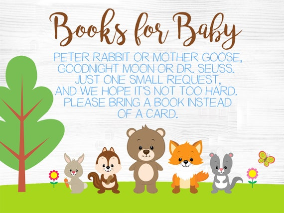 Woodland Animal Baby Shower Invitation, Free Books For Baby Insert, Forest  Baby Shower, Fox Baby Shower, Woodland Birthday Invitation