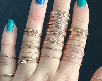 Rose Gold or Gold Fill Stacker