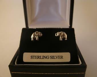 Sterling Silver Elephant Earrings Irish Ear Studs Jewellery