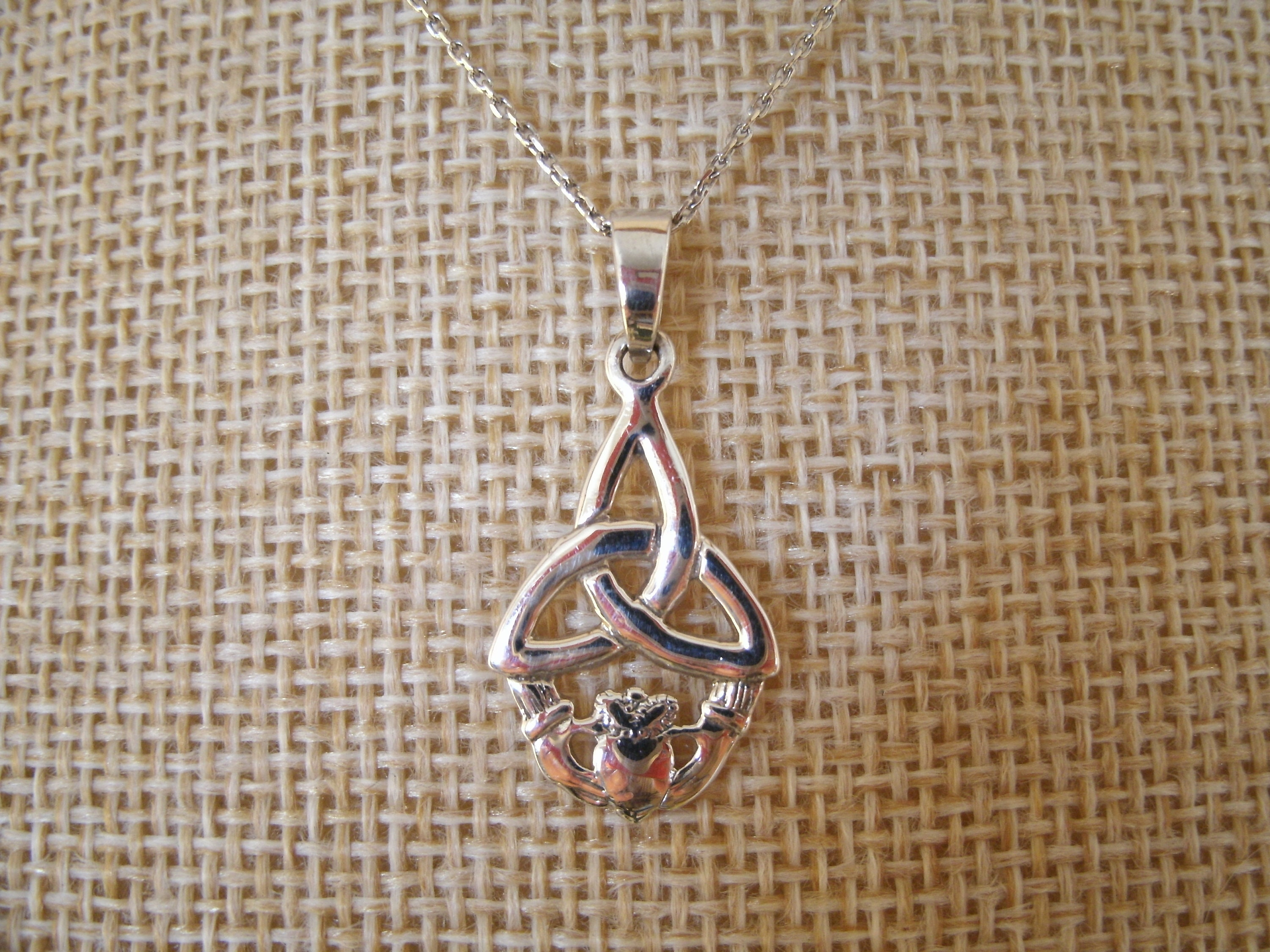 Irish Knotwork Jewelry Sterling Silver Celtic Knot Cross of the Holy Spirit