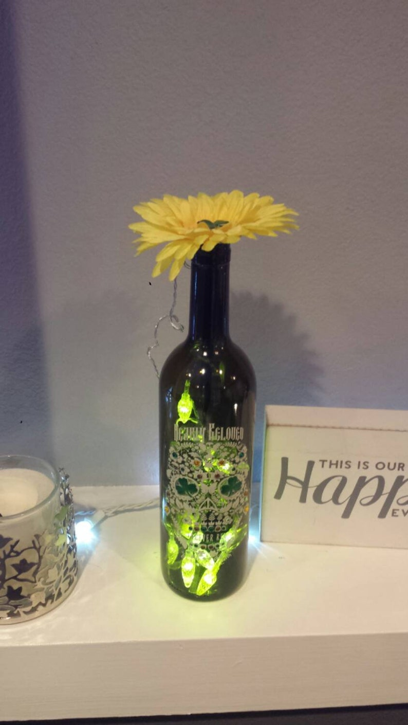 daa781890b50 St. Patrick s day day of the dead skull lighted wine