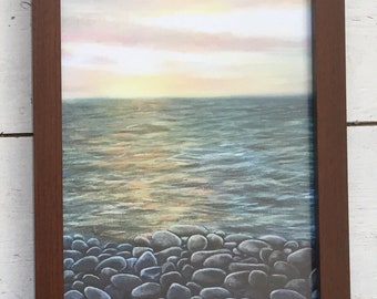 Pebbles, Westwar Ho!- framed Limited edition print taken from my original painting.