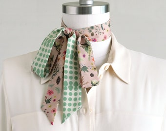 scarves | pastel + white