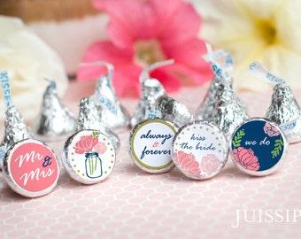 Printed personalized hershey kiss sticker Hershey kiss label | Etsy