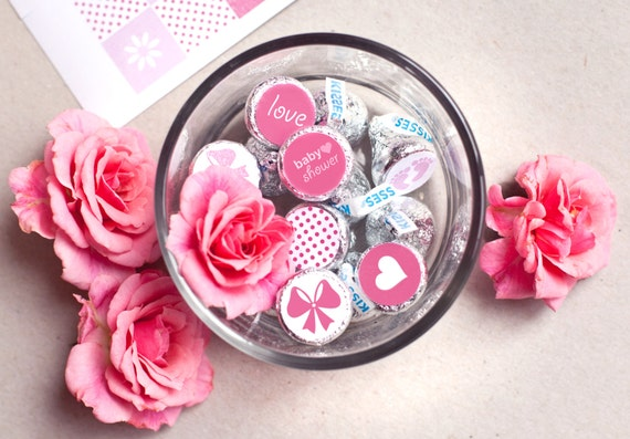 Printed For You Personalized Baby Shower Hershey Kiss Labels Etsy