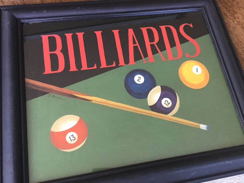 Billiards Painting By Becca Barton, Game Room Decor