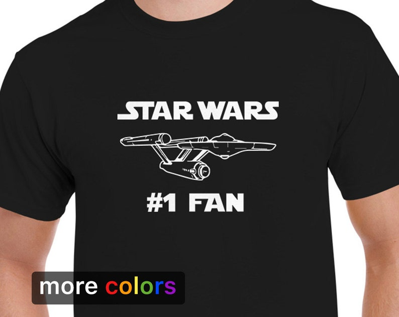 b8747f97 Star Wars 1 FAN Mens T-shirt Star Trek USS Enterprise Tee | Etsy