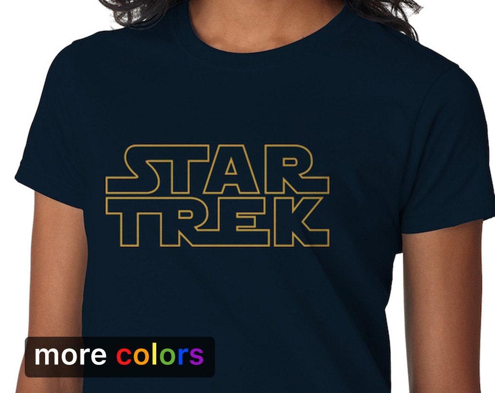 f18e05b0 Star Trek in Star Wars Logo Women's T-shirt Tee   Etsy