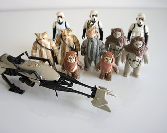 Vintage Kenner Star Wars Endor Lot (11)