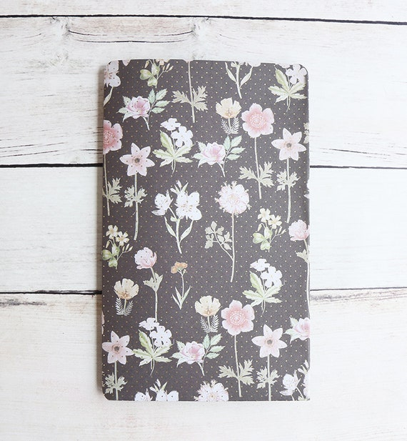 TN Botanical Fauxdori Folder, Gold Foil Flower Journal Insert, Four Pocket Planner Pocket for Travel Notebook, A6 B6 Slim Orleans Collection