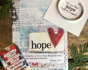GIFT SET  -  hope bracelet + 5 x 7 print gift set | hope bracelet |  Stephanie Ackerman art print