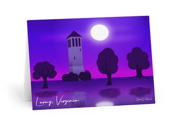 Cards from Luray, Virginia with Singing Tower/Carillion Original Landscape Art (5 pack)