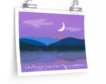 Luray, Virginia Poster - Original Art from Lake Arrowhead by Artist Janell E. Robisch