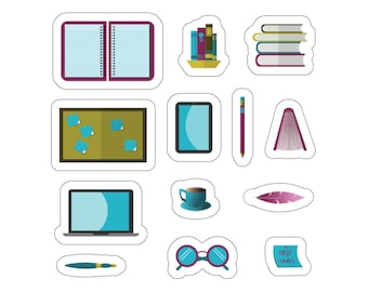 Writer Stuff 6 x 6 Inch Kiss-Cut Sticker Sheet for Writers, Authors, and Book Lovers