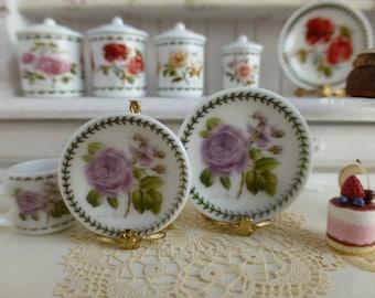 Botanic Roses Lilac Rose Dollhouse Plate