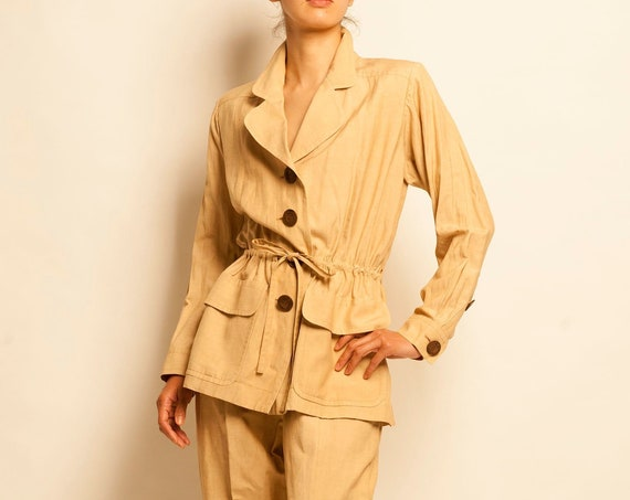Safari suit Yves Saint Laurent from 1990's