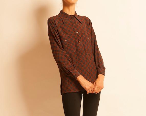 Silk blouse Yves Saint Laurent from 1970's