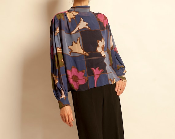 Silk blouse Thierry Mugler from 1980's