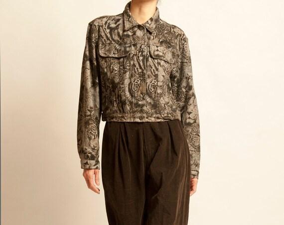 Short jean jacket KENZO from 1990's