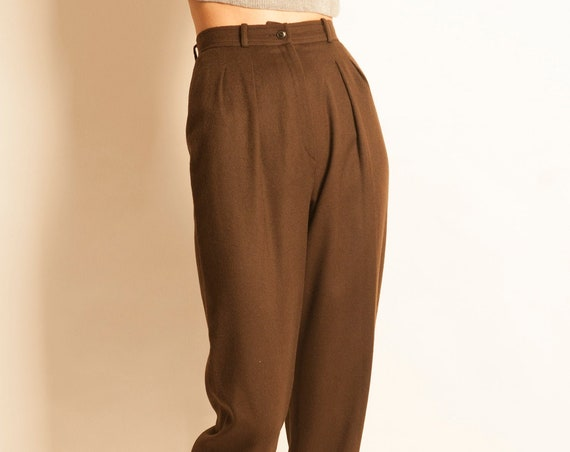 Cropped trousers LANVIN from 1980's