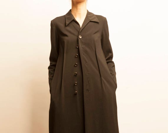 1990's tricot Comme des Garçons black adjustable shirt dress