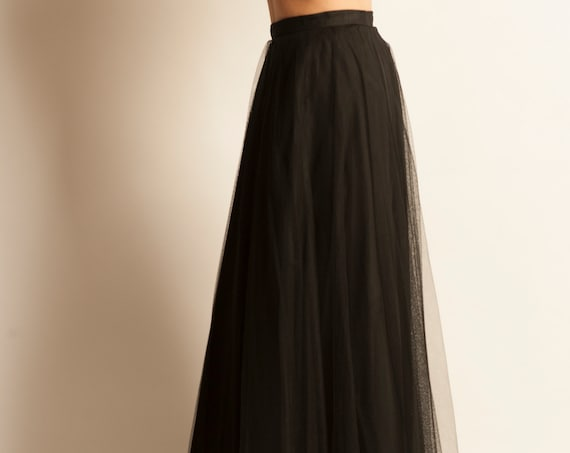 Long flared tulle skirt from 1950's